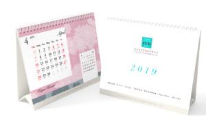 佳麗寶化妝品2019年桌曆